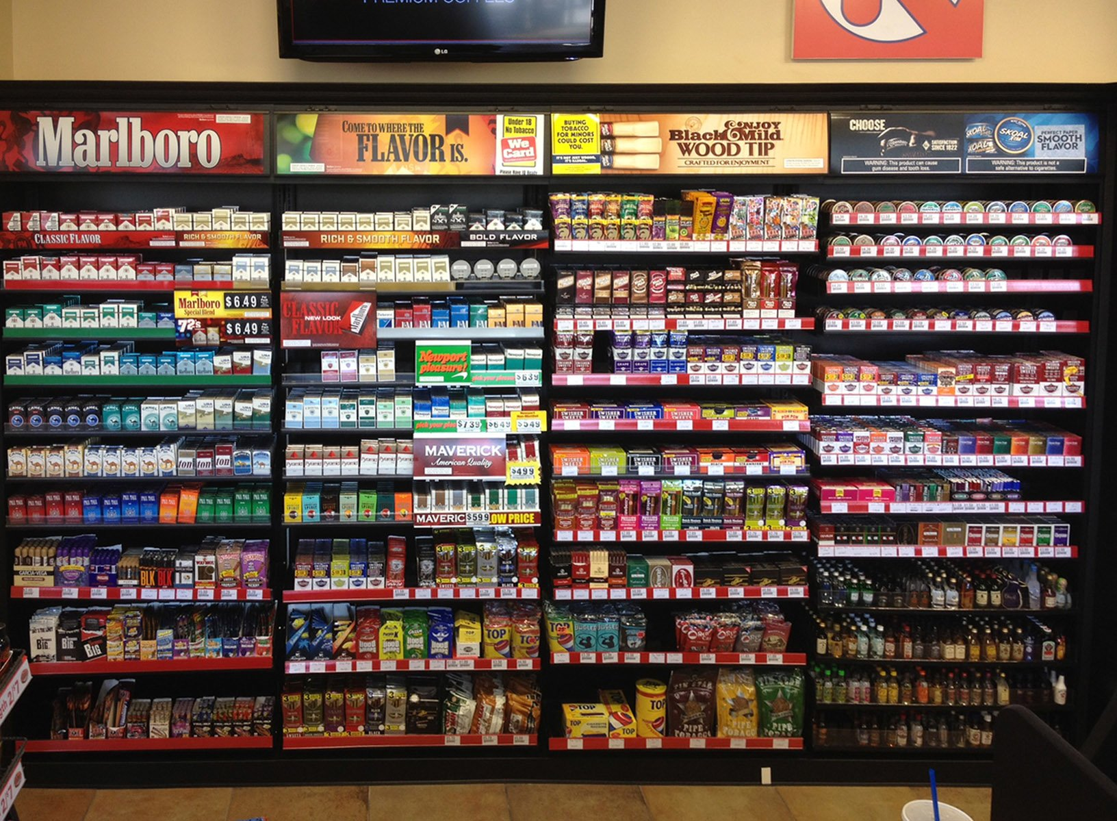 Cigarette Display Rack For Circle K Convenience Stores