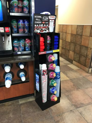 Floor standing cup dispenser