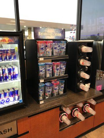 Countertop refill mug display