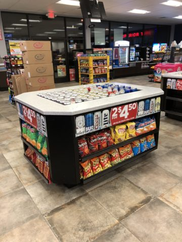 Island Beverage Tub - large iced beer display