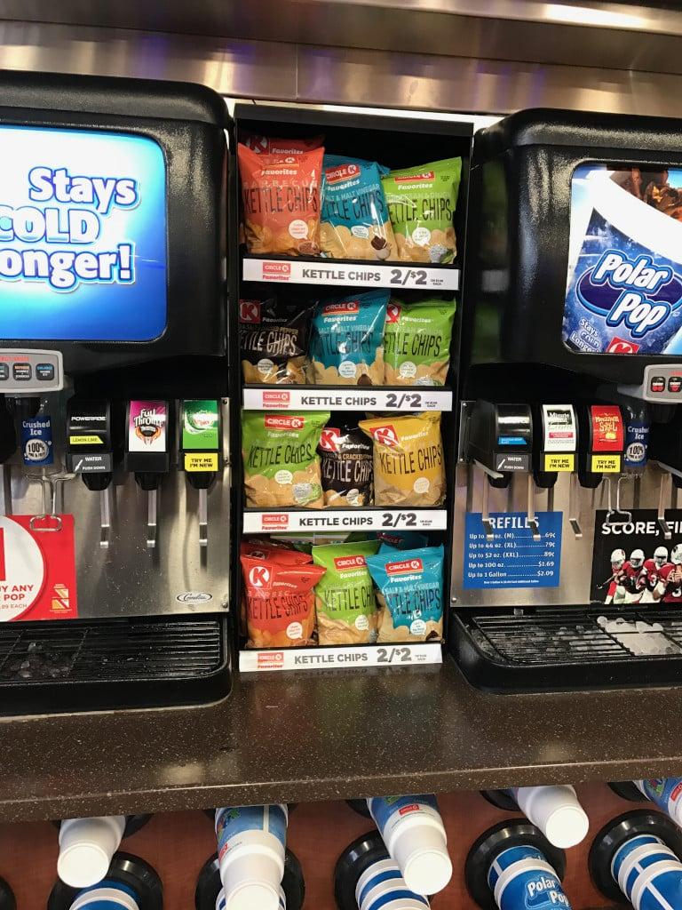Counter chip shelf - fountain candy