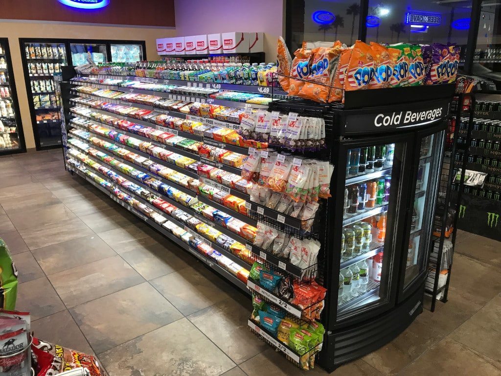 Convenience store candy racks