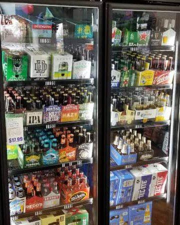 Custom beverage displays - walk-in cooler shelving