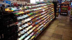 Candy racks and displays for convenience stores