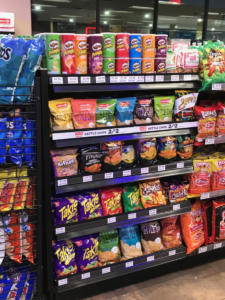 Chip display racks for convenience stores