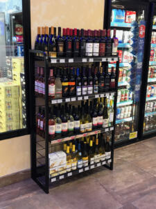 Wine bottle floor standing retail display